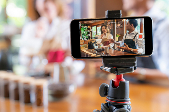 Filming business owners for video marketing