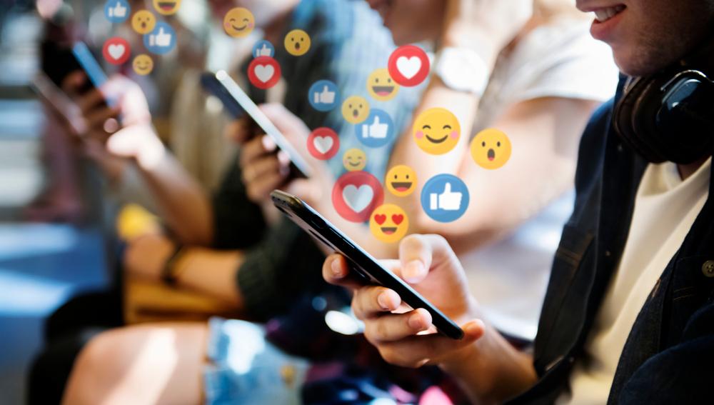 People watching video on social media